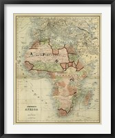 Framed Antique Map of Africa