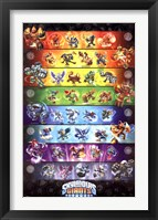 Framed Skylanders Giants - Group