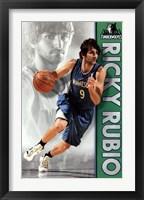 Framed Timberwolves - R Rubio 12