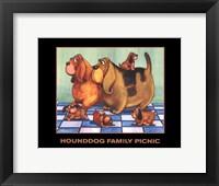 Framed Hounddog Family Picnic