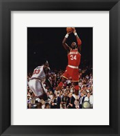 Framed Hakeem Olajuwon Game 4 of the 1994 NBA Finals Action