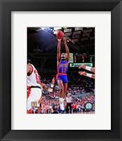 Framed Isiah Thomas 1990 NBA Finals Action
