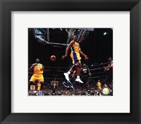 Framed Kobe Bryant & Shaquille O'Neal 2001 NBA Finals Action