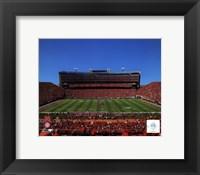 Framed University of Nebraska Cornhuskers Memorial Stadium 2012