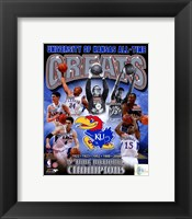 Framed University of Kansas Jayhawks All Time Greats Composite