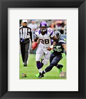 Framed Adrian Peterson 2012 Action