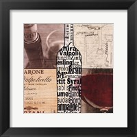 Framed Wine Collage