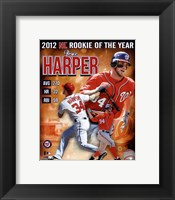 Framed Bryce Harper 2012 National League Rookie of the year Composite
