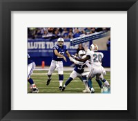 Framed Andrew Luck breaks the NFL Rookie single game passing record, Lucas Oil Stadium- Indianapolis, IN November 4, 2012