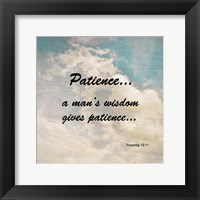 Patience Proverbs 19:11 Against the Sky Framed Print