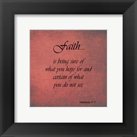 Framed Faith Hebrews 11:1