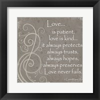 Love Quote Framed Print