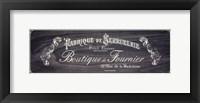 Framed French Elegance - charcoal