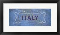 Framed Vintage Sign - Italy