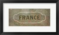 Framed Vintage Sign - France