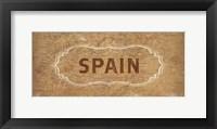 Framed Vintage Sign - Spain