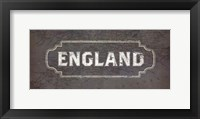 Framed Vintage Sign - England