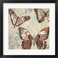 Patterned Butterflies I Framed Print