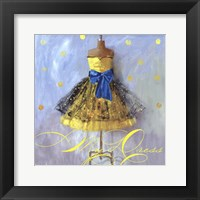 Framed Yellow Dress