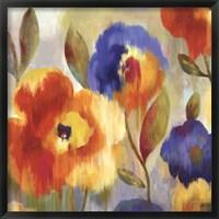 Framed Ikat Florals - Oversize