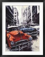 Framed Havana Vintage Classic Cars II