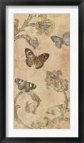 Framed Papillion Decoratif II