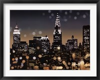 Framed New York Night I