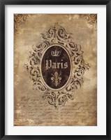 Framed Paris Classique I