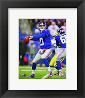 Framed Eli Manning 2012 Action