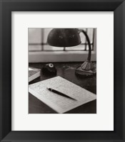 Notepad Framed Print