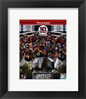 Framed Houston Texans 2012 Team Composite