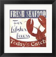 Framed Fresh Seafood I