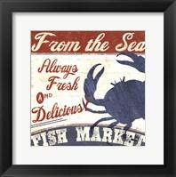 Framed Fresh Seafood IV