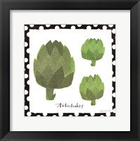 Simple Artichokes Framed Print