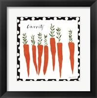 Simple Carrots Framed Print