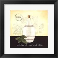 Framed Huile d Olive III