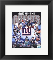 Framed New York Giants All-Time Greats Composite