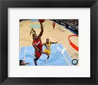 Framed Chris Bosh 2012-13 on court
