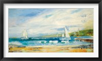 Framed Seaside Harbor I