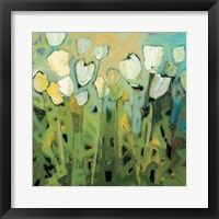 Framed White Tulips I