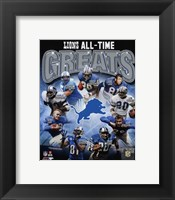 Framed Detroit Lions All Time Greats Composite