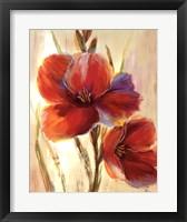 Framed Flourescent Blooms I