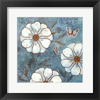 Framed Blue Posies II