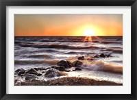 Framed Sunset at Blue Point