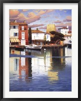 Framed HARBOR AT MORNING LIGHT