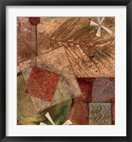Framed Gilded Leaf III
