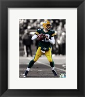Framed Aaron Rodgers 2012 Spotlight Action