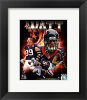 Framed J.J. Watt 2013 Portrait Plus