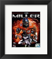 Framed Von Miller 2013 Portrait Plus