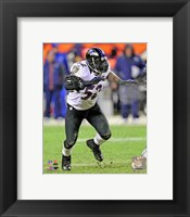 Framed Ray Lewis 2012 AFC Divisional Playoff Game Action